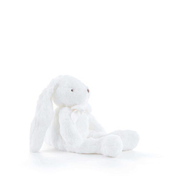 Lapin peluche blanc