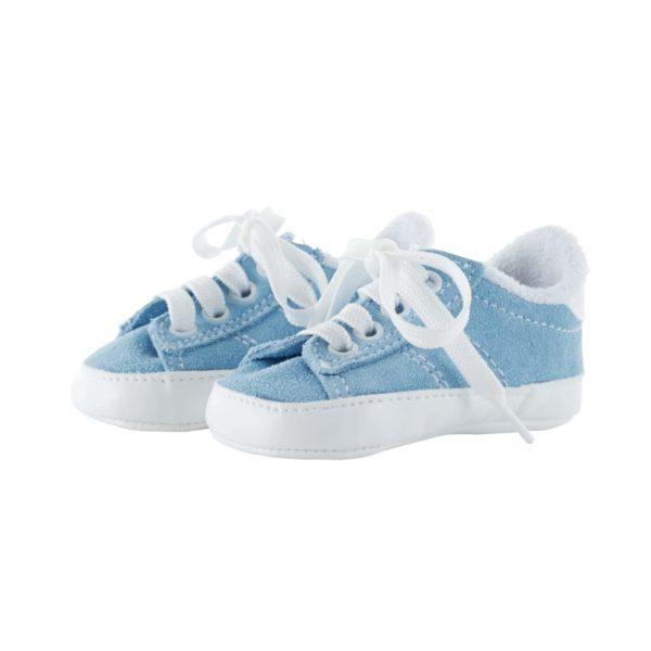 Baskets bébé bleues en nubuck