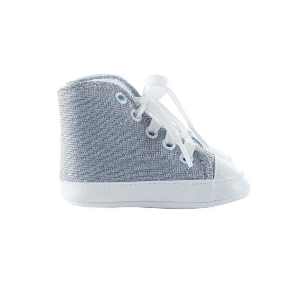 Baskets hautes diamant gris