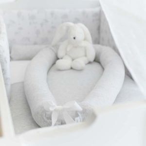 Baby nest cot reducer Soft Grey