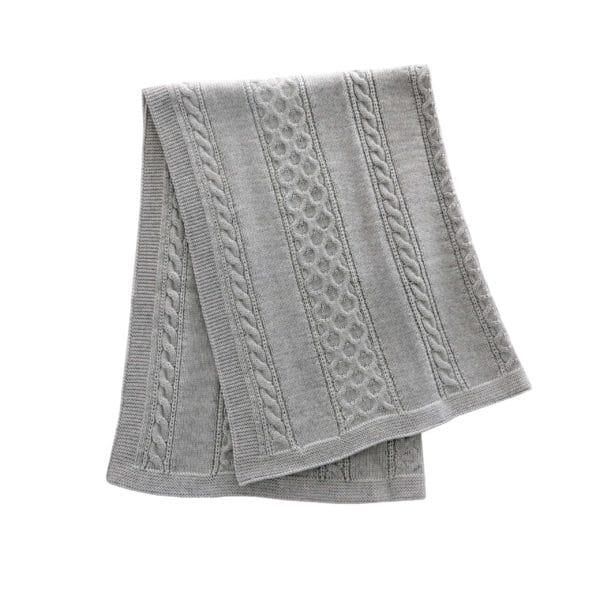shawl twist merino wool grey