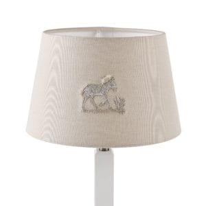 small embroidered lampshade safari