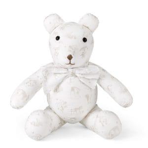 Decorative teddy bear, safari print