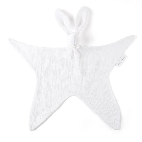 Doudou lapin Cotton White en tétra