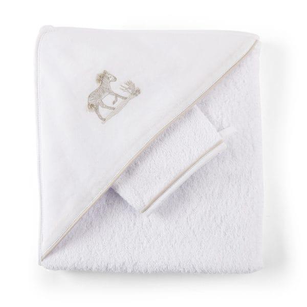 sortie de bain et gant de toilette Safari