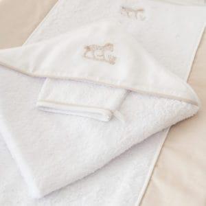 Sortie de bain et gant, Safari