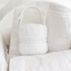 Housse de voyage pour tétine, Cotton White