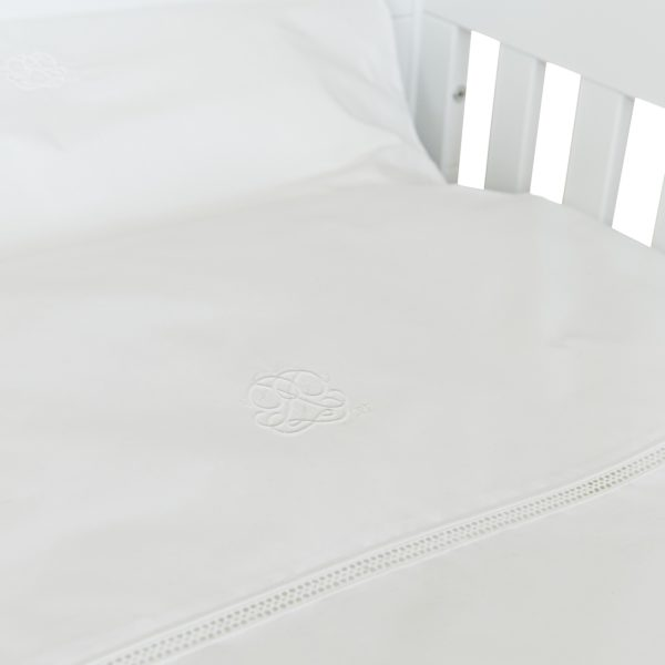 Baby cot bed duvet cover and pillowcase