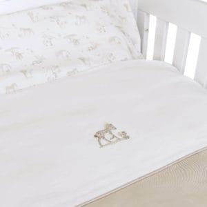 Housse de couette lit 100x135cm avec taie d'oreiller, Safari, camel, détails