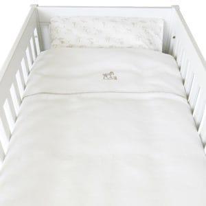 Housse de couette lit 100x135cm avec taie d'oreiller, Safari, blanc