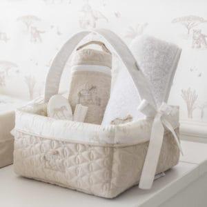 Panier de toilette bébé avec poignée, Safari