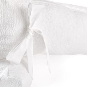 Tour de lit 70cm, de 18cm de haut, blanc, Cotton White. Total longueur: 210cm