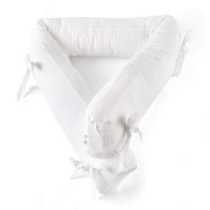 Tour de lit 70cm, de 18cm de haut, blanc, Cotton White