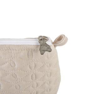 Trousse de toilette Safari camel, détails