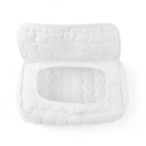 Housse de voyage pour lingettes, Cotton White