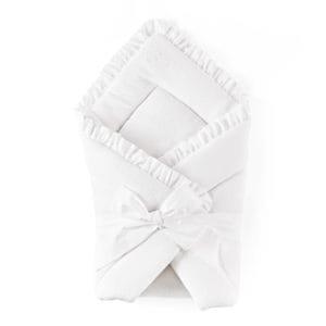 Couverture chale nid d'ange Cotton White