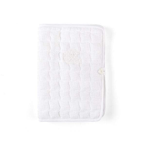 Pochette de voyage pour carnet de santé Cotton White