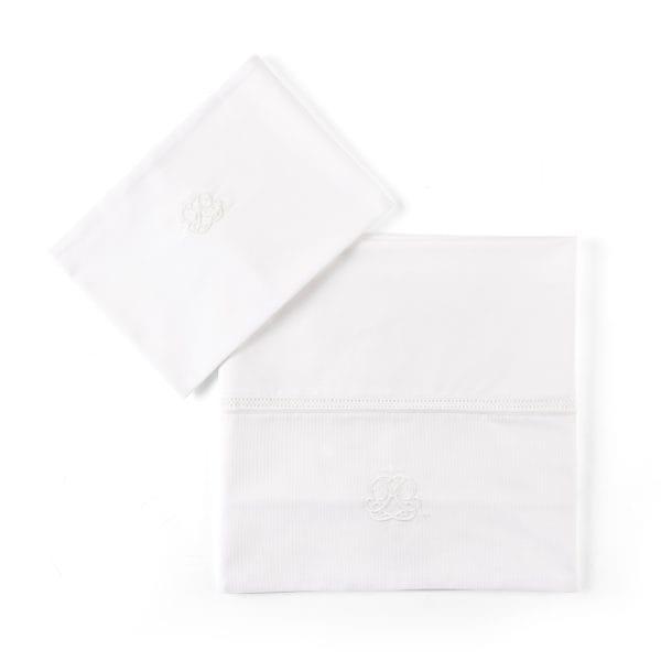 Drap de lit et taie d'oreiller, Cotton White