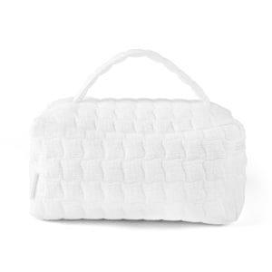 Trousse de toilette avec poignée, Cotton White