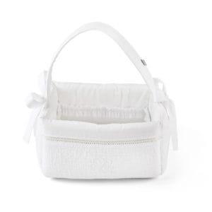 Panier de toilette avec poignée, Cotton White