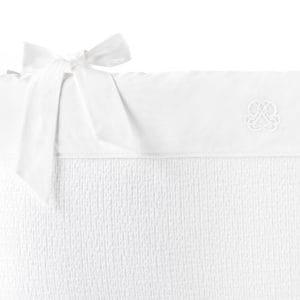 Tour de lit 60cm, Cotton White