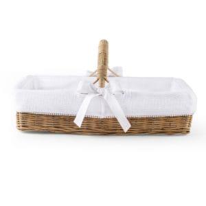 Panier osier anse Cotton White