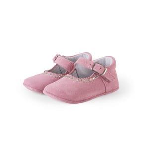Pink baby ballerinas with glitter