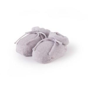 chaussons bébé gris